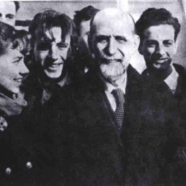 Juan Ramón Jiménez a su llegada a Buenos Aires el 4 de agosto de 1948