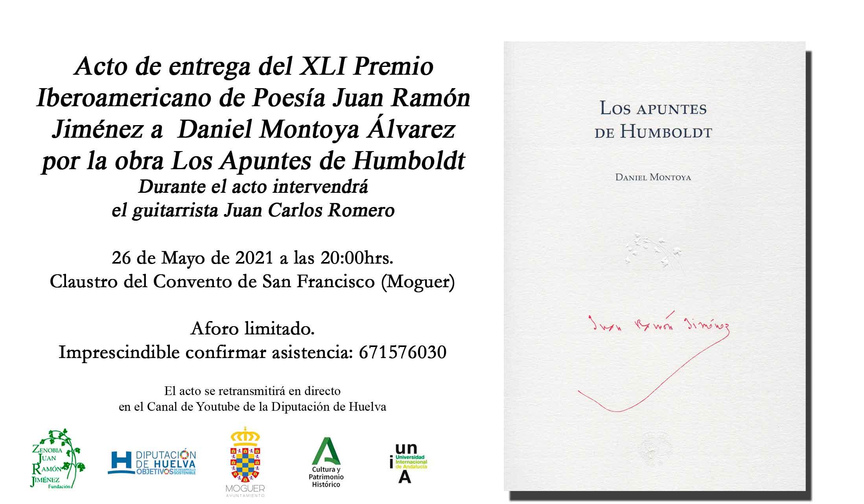 Invitación Entrega Premio Iberoamericano de Poesía